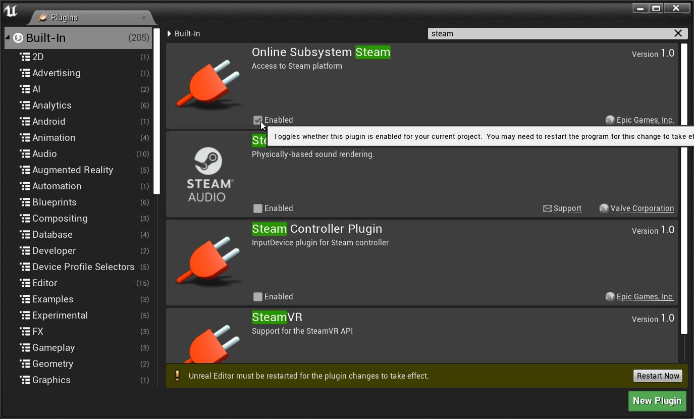 Внедрение Steamworks SDK в Unreal Engine — Unreal Engine
