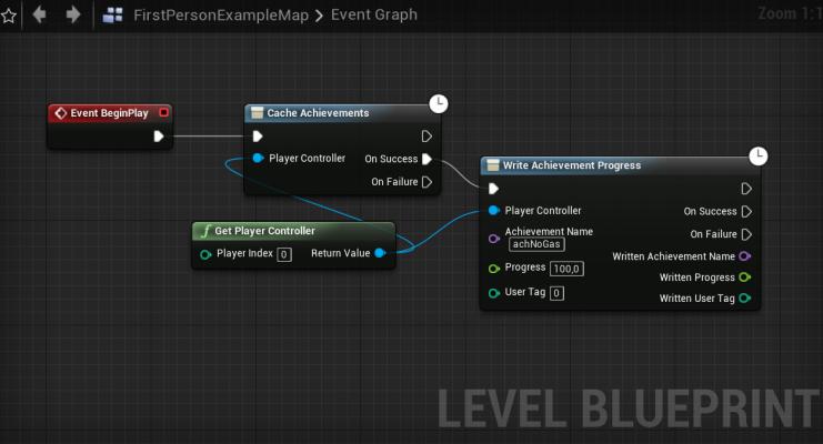 Пример получения достижения для UNDER the SAND — Добавление достижений Steam в Unreal Engine 4 — Unreal Engine — DevTribe: инди-игры, разработка, сообщество