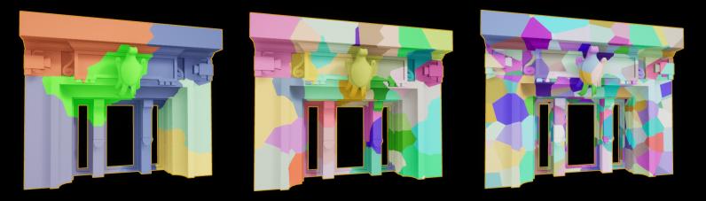 Слева - Уровень 1: 6 объектов; Центр - Уровень 3: 50 объектов; Справа - Уровень 5: 513 объектов — Unreal Engine 4.23 - Часть 1 — Unreal Engine — DevTribe: инди-игры, разработка, сообщество (translate, update)