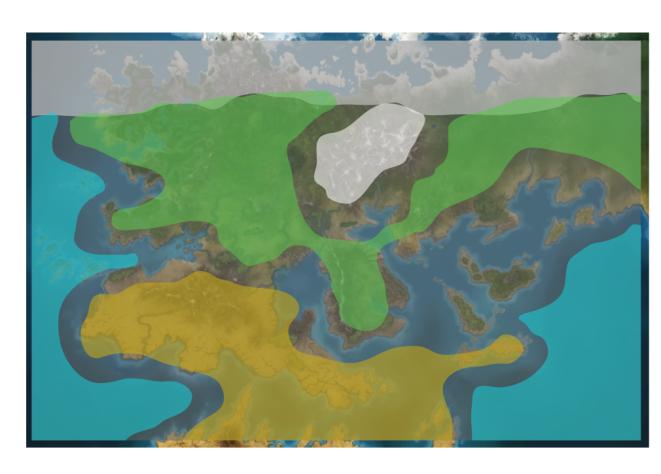 Пример климатических зон — На-Заметку. Заметка №1 Погодная система — Game Design — DevTribe: Разработка игр (na-zametku, на-заметку)