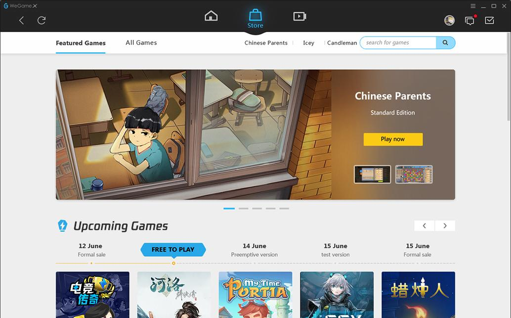 Внешний вид клиента WeGame X — Китайский магазин WeGame вышел на мировой рынок — Медиа — DevTribe: Разработка игр