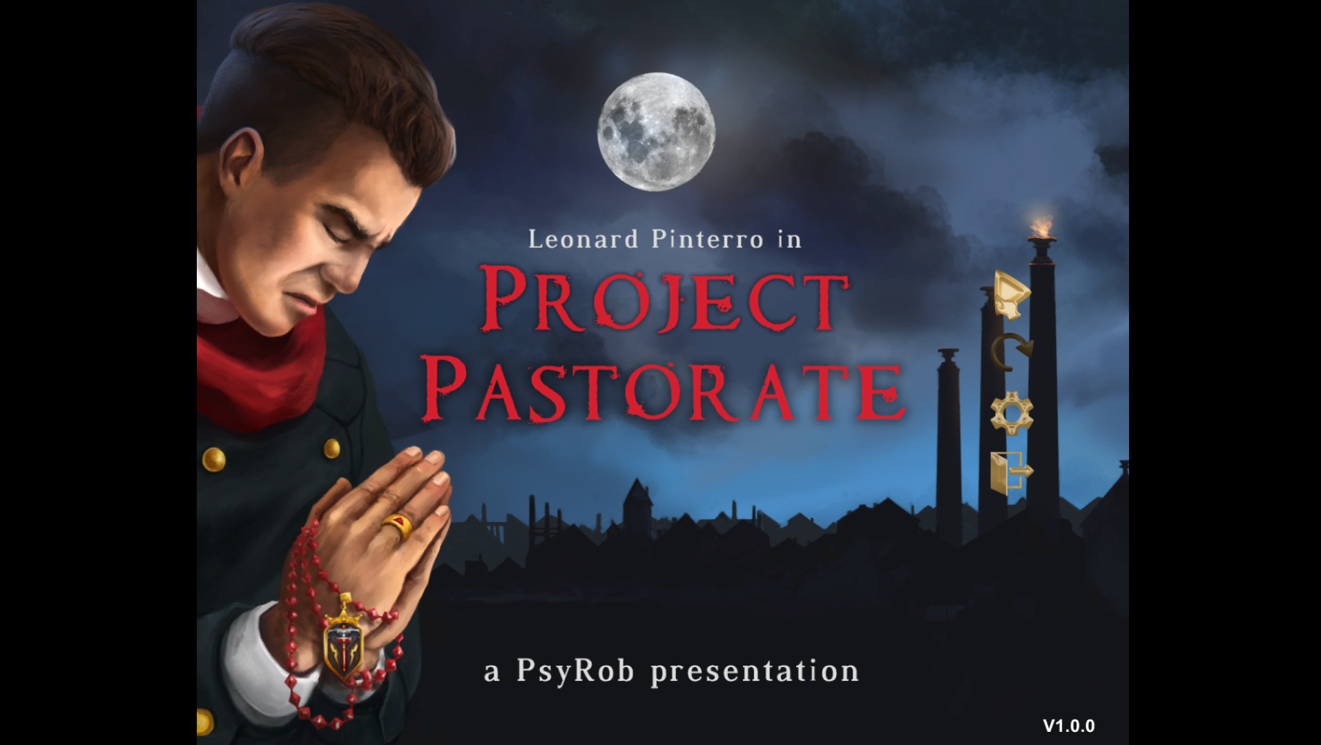 Главное меню. Project Pastorate — Обзор - Project Pastorate — Игровые обзоры — DevTribe: Разработка игр (ProjectPastorate, инди-игры, Куратор, Обзор)