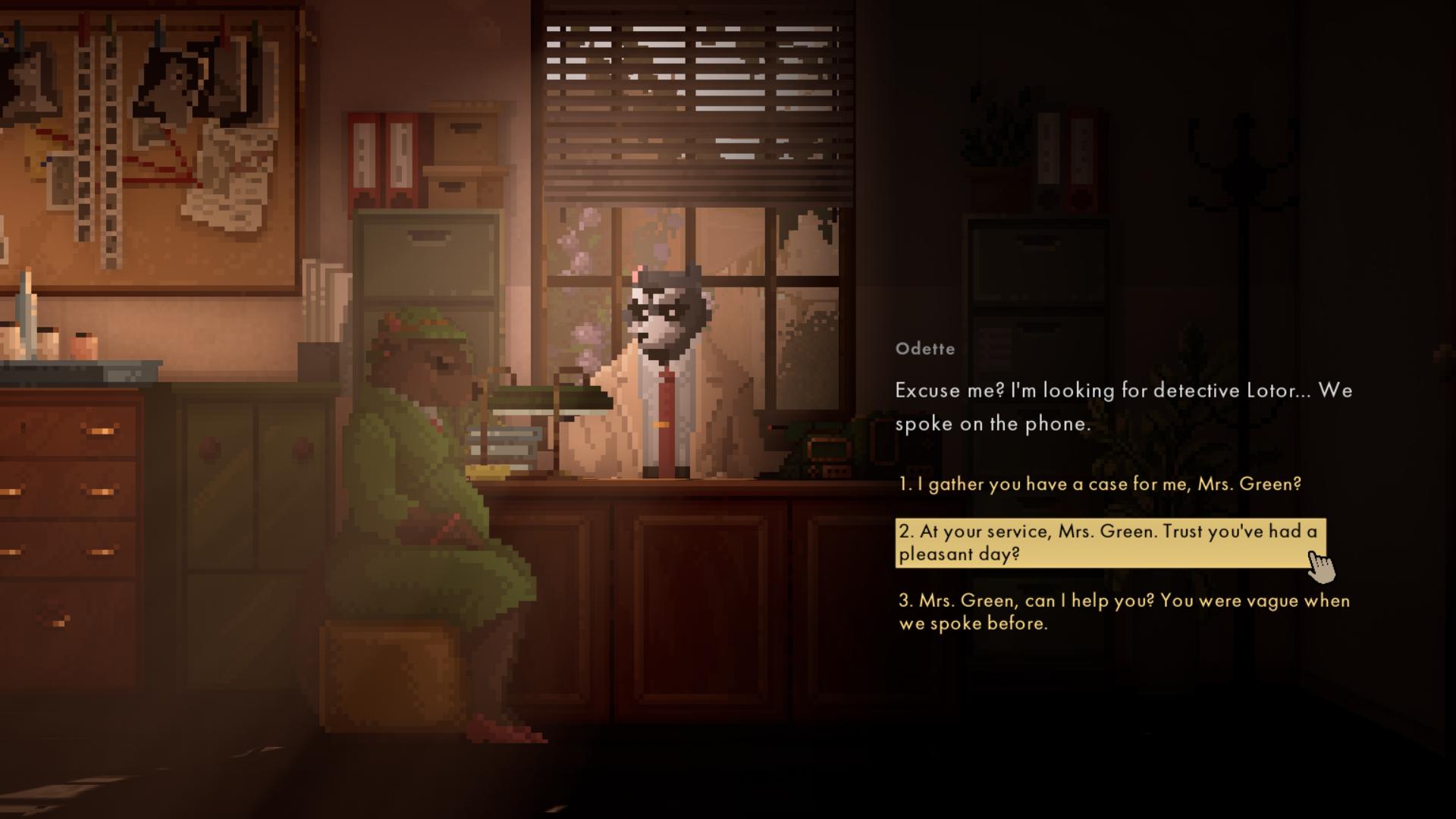 Диалоги в игре имеют разветвлённую структуру — Ревью Backbone Prologue — Игровые обзоры — DevTribe: Разработка игр