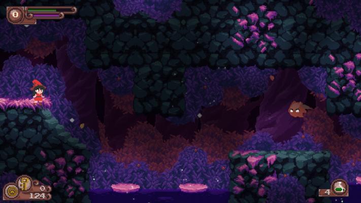 Пещеры - достаточно сложная локация в игре — Catmaze - ревью сказочной метроидвании — Игровые обзоры — DevTribe: инди-игры, разработка, сообщество