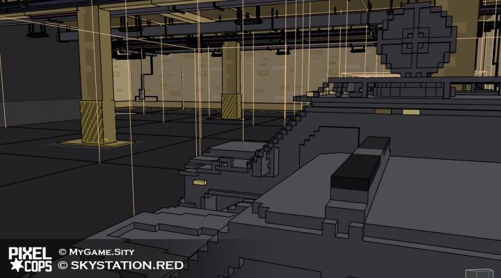 LAPD гараж — Pixel Cops — DevTribe: инди-игры, разработка, сообщество (Игра, игра, Концепт, концепт, пиксельарт, ПиксельАрт, скрин, юнити)