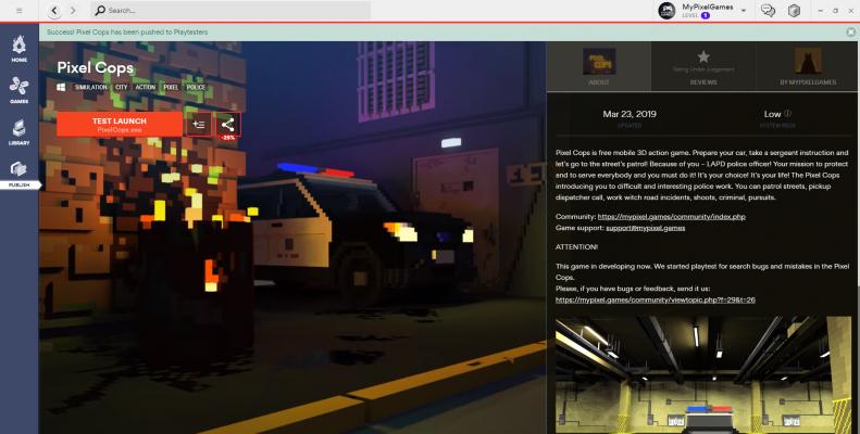Что поменялось за это время? — Pixel Cops — DevTribe: инди-игры, разработка, сообщество (Android, pixel, windows)